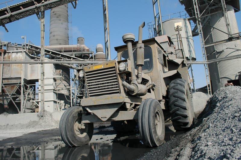Industriële tractor royalty-vrije stock afbeeldingen