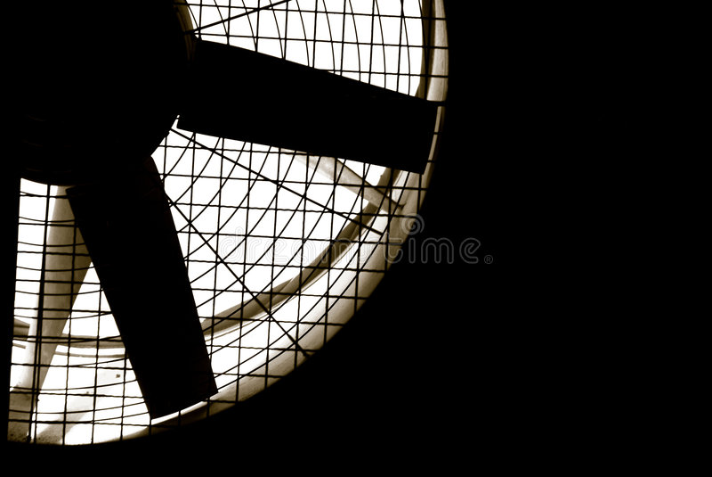 Industriële ventilatorturbine stock afbeelding