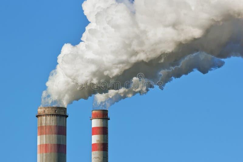 Industriële verontreiniging royalty-vrije stock afbeeldingen