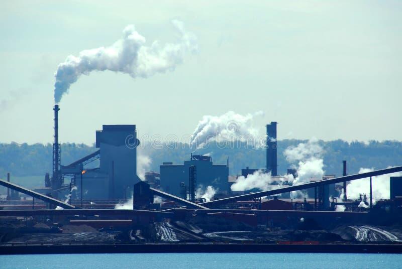 Industriële verontreiniging stock afbeeldingen