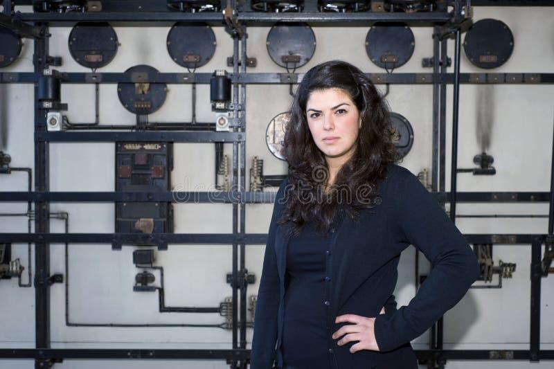 Industriële vrouw royalty-vrije stock afbeelding