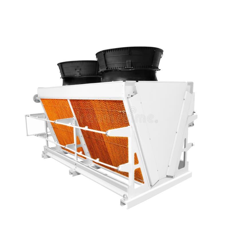 Industriële warmtewisselaaroplossing de industriële die eenheden van de airconditioningscondensator, de machine van de luchtcompr royalty-vrije stock foto