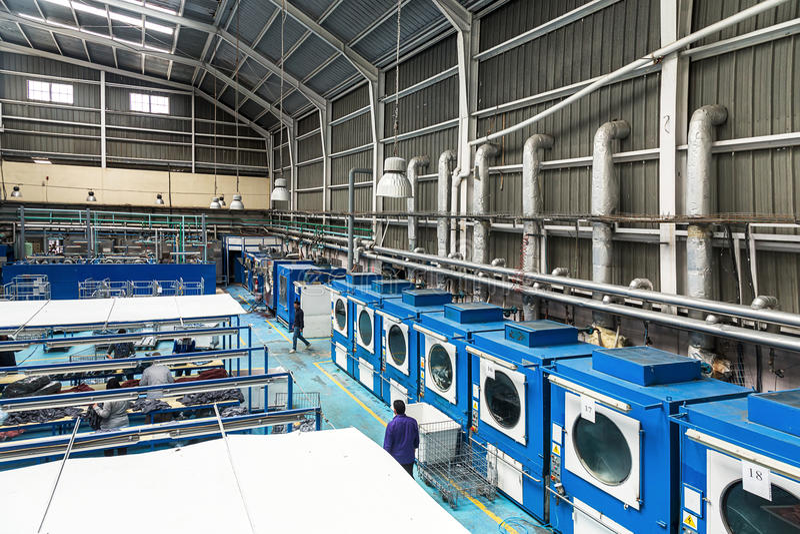 Industriële wasserij royalty-vrije stock fotografie