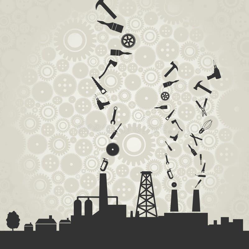 Industri royaltyfri illustrationer