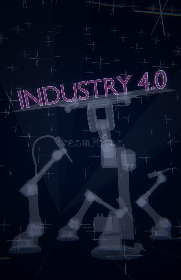 industri 4 stock illustrationer