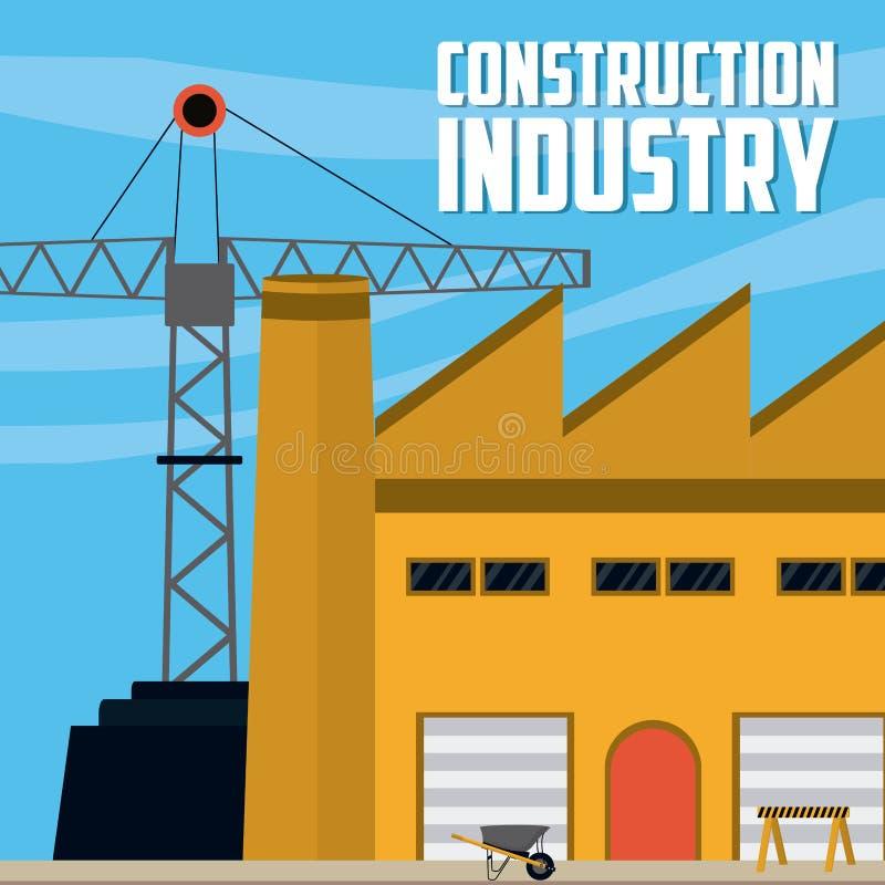 industri för symbolen för huset för konstruktion för bakgrundstegelstenbegreppet keys den gjorda väggen stock illustrationer