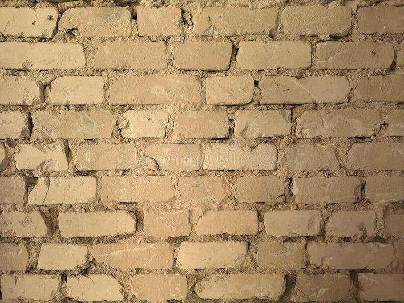 Industri?le textuur Oude Bakstenen muur royalty-vrije stock afbeeldingen