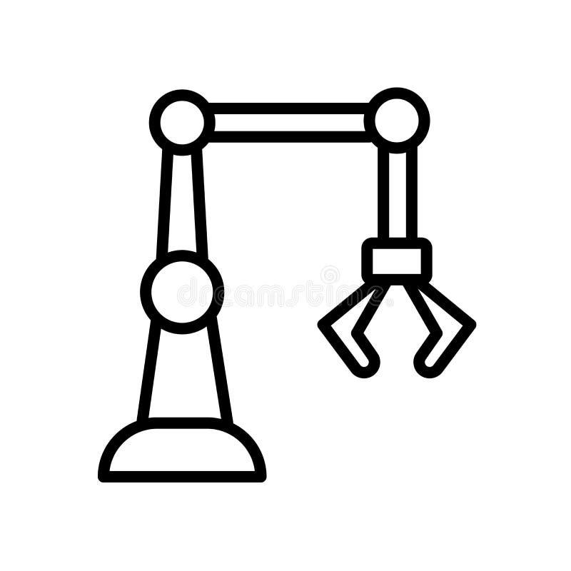 industri 4 0 symbol som isoleras på vit bakgrund stock illustrationer