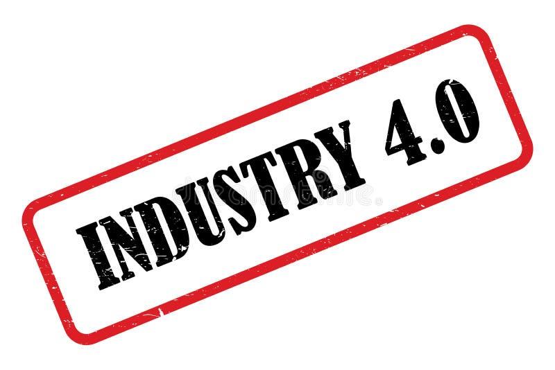 industria 4 0 bolli illustrazione di stock