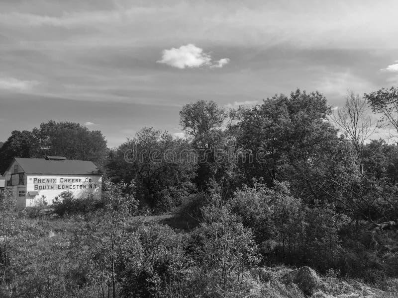 Industria casearia abbandonata, New York fotografia stock