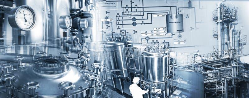Industria chimica e industria farmaceutica immagine stock libera da diritti