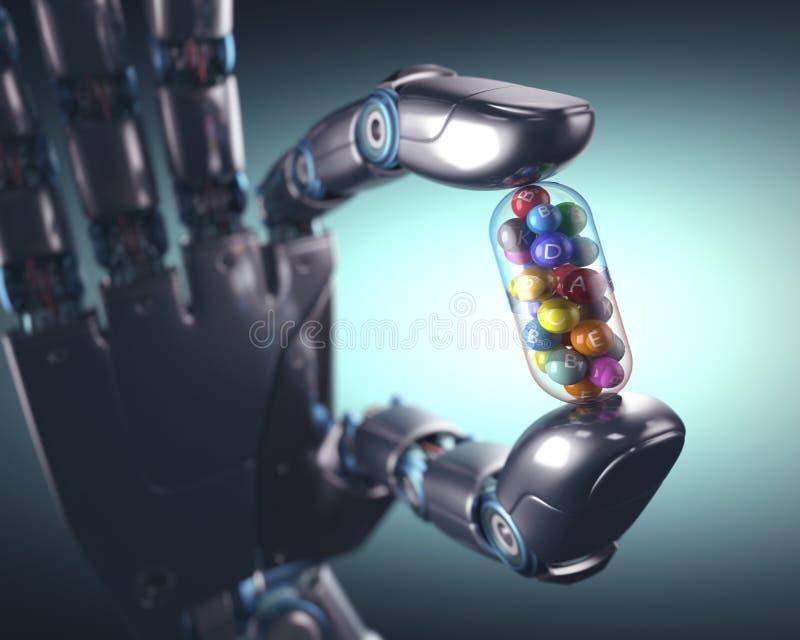 Industria de la píldora del Multivitamin ilustración del vector