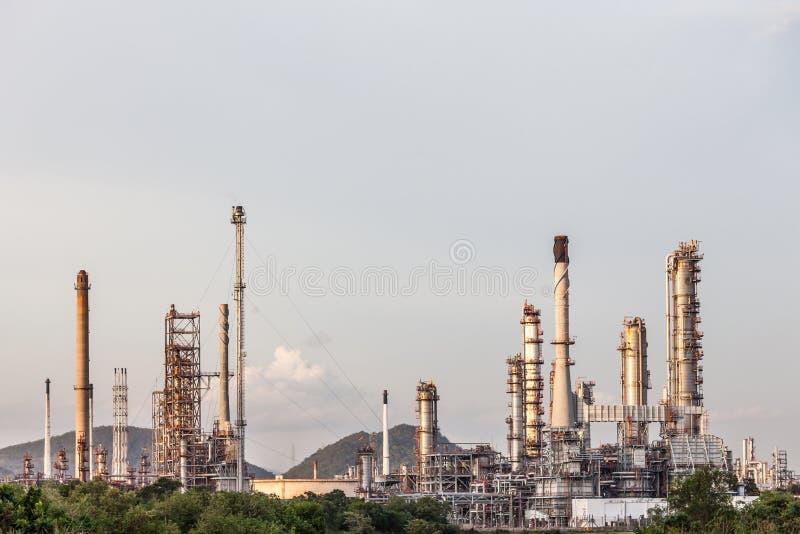 Industria de la planta de la refinería de petróleo en campo en Chonburi Tailandia fotos de archivo libres de regalías