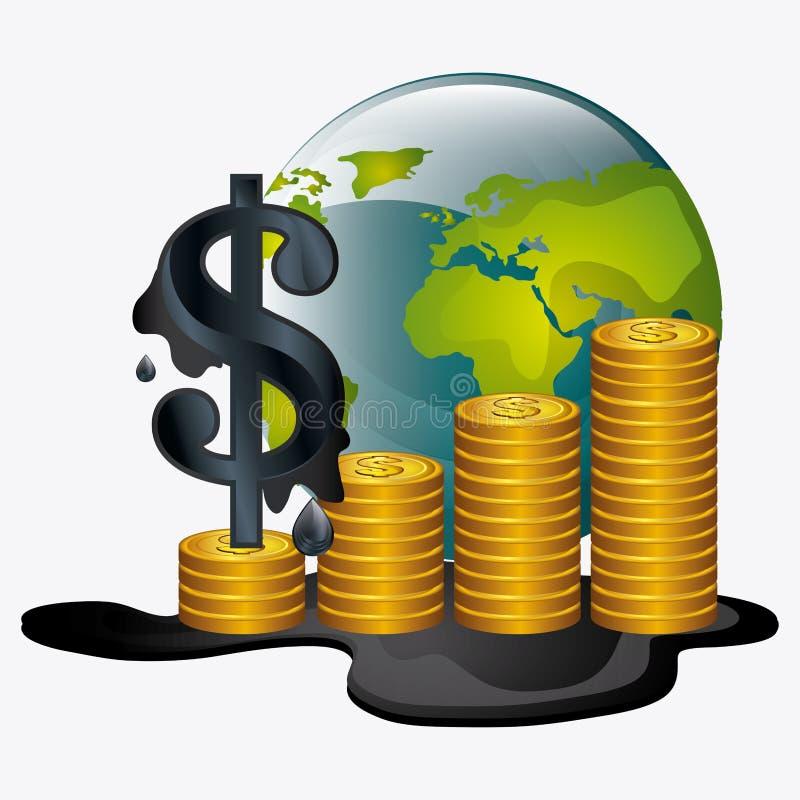 Industria de los precios del petróleo ilustración del vector