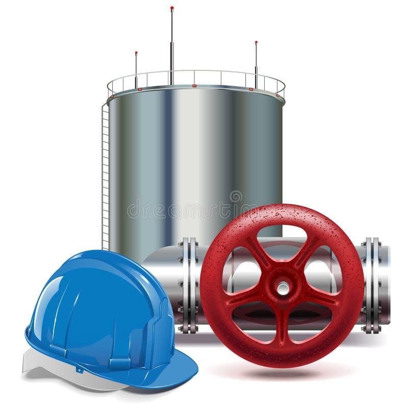 Industria de petróleo del vector stock de ilustración