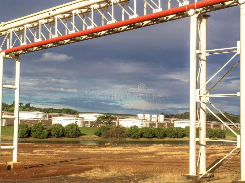 Industria del azúcar y del etanol fotografía de archivo