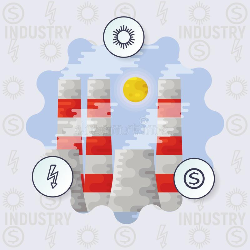 Industria del concepto de Infographics libre illustration