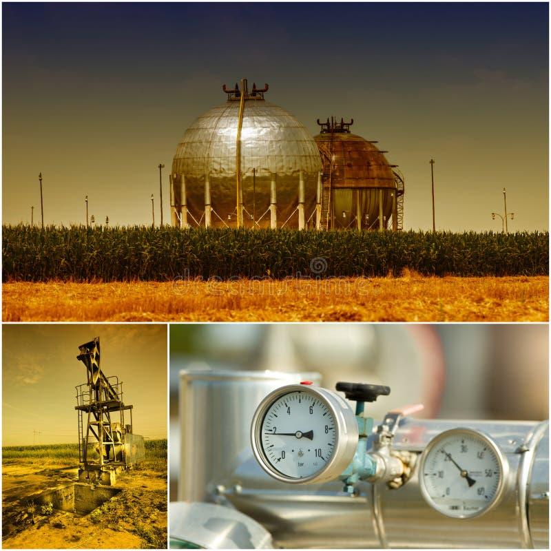 Industria del gas e del petrolio fotografia stock