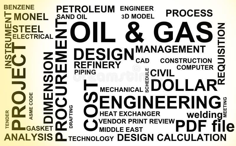 Industria del petróleo y gas ilustración del vector