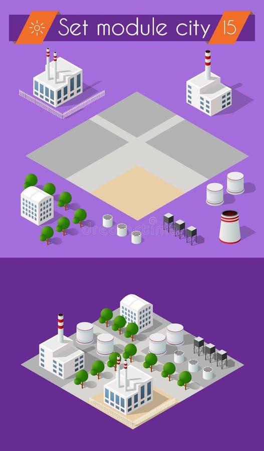 Industria della costruzione 3D royalty illustrazione gratis