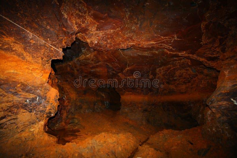 Industria della miniera di rame in Norvegia fotografia stock