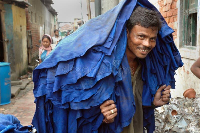Industria di cuoio di Kolkata fotografie stock libere da diritti