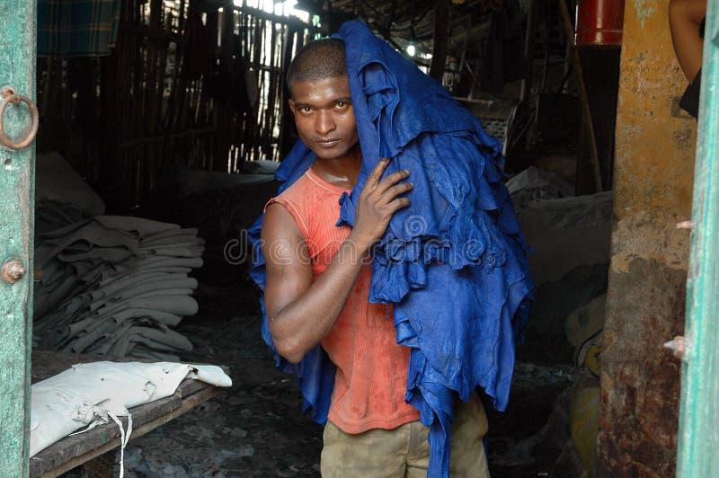 Industria di cuoio di Kolkata fotografia stock