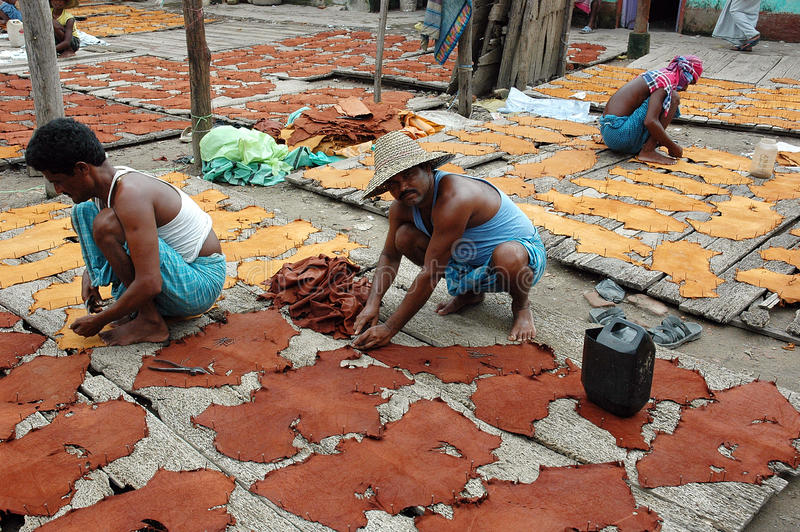 Industria di cuoio di Kolkata fotografia stock libera da diritti