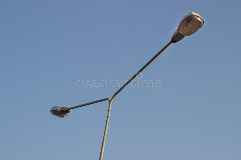 Industria gemellata Tailandia di elettricità della posta della lampada fotografie stock libere da diritti