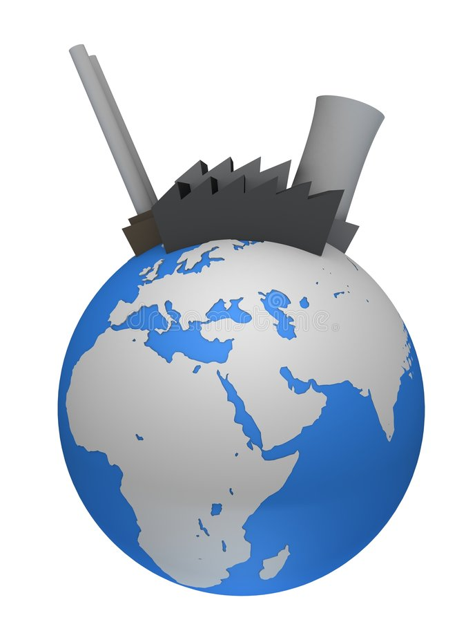 Industria globale illustrazione vettoriale