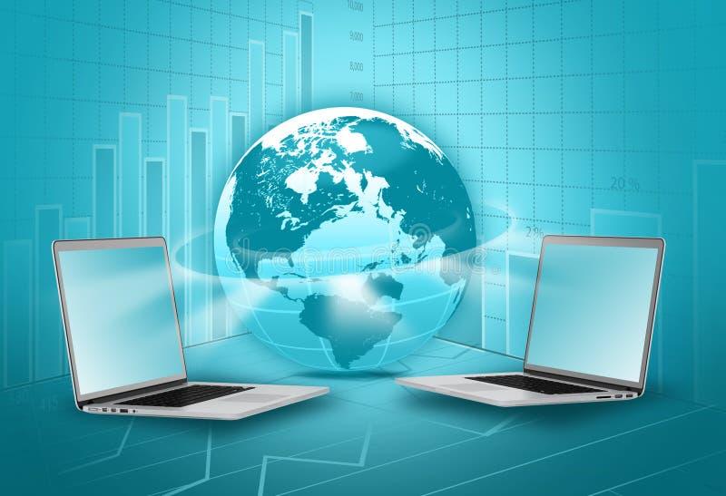 Industria globale di commercio elettronico illustrazione vettoriale
