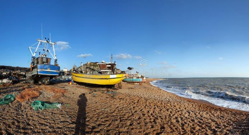 Industria Hastings Inglaterra del barco de pesca del barco rastreador imagen de archivo libre de regalías