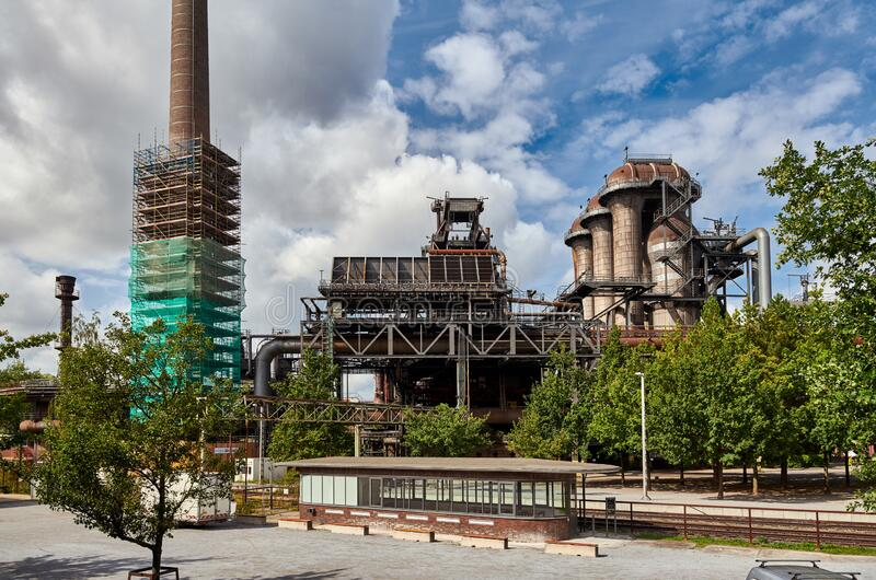 Industria industriale di Duisburg, Germania fotografie stock