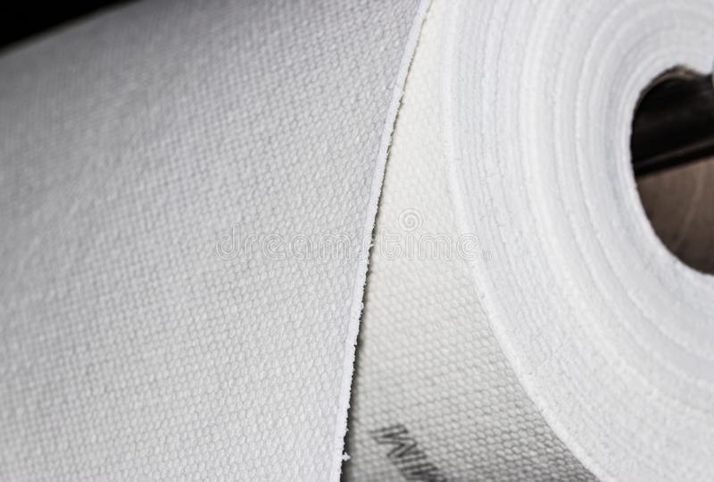 Industria materiale del rotolo composito FMR del tessuto della vetroresina immagini stock