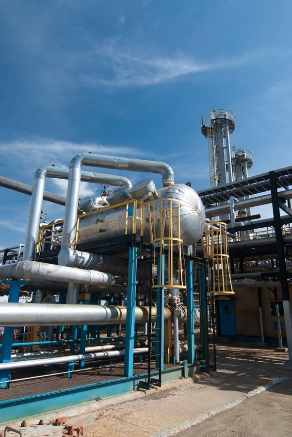 Industria petrolera. refinamiento del sulfuro fotos de archivo libres de regalías