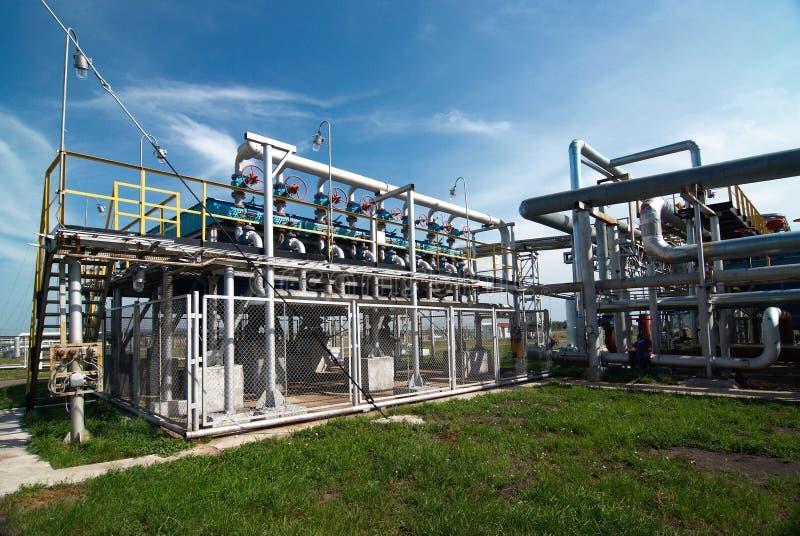 Industria petrolera. sulfuro-refinamiento foto de archivo