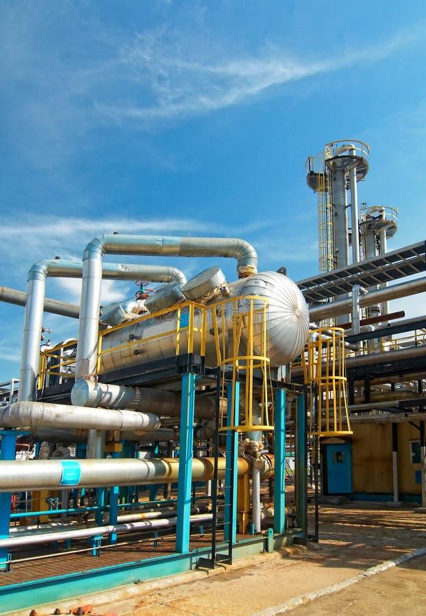 Industria petrolera. sulfuro-refinamiento imagenes de archivo