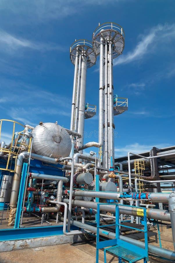 Industria petrolera. sulfuro-refinamiento imagen de archivo libre de regalías