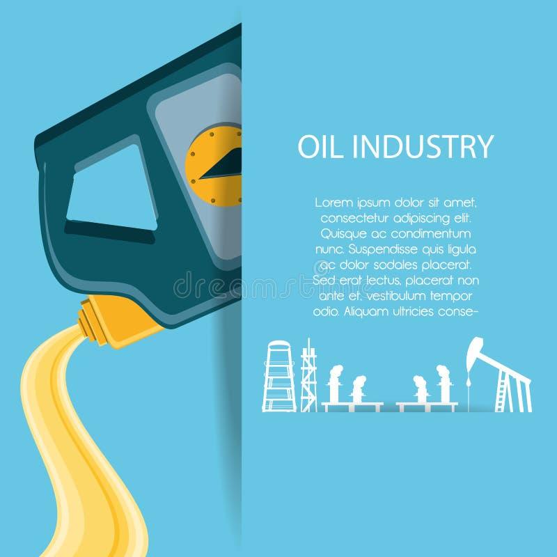 Industria petrolifera con il gallone royalty illustrazione gratis