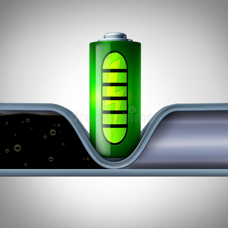 Industria petrolifera d'interruzione di tecnologia della batteria illustrazione vettoriale