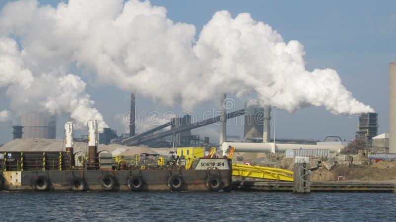 Industria Rotterdam Maasvlakte foto de archivo libre de regalías