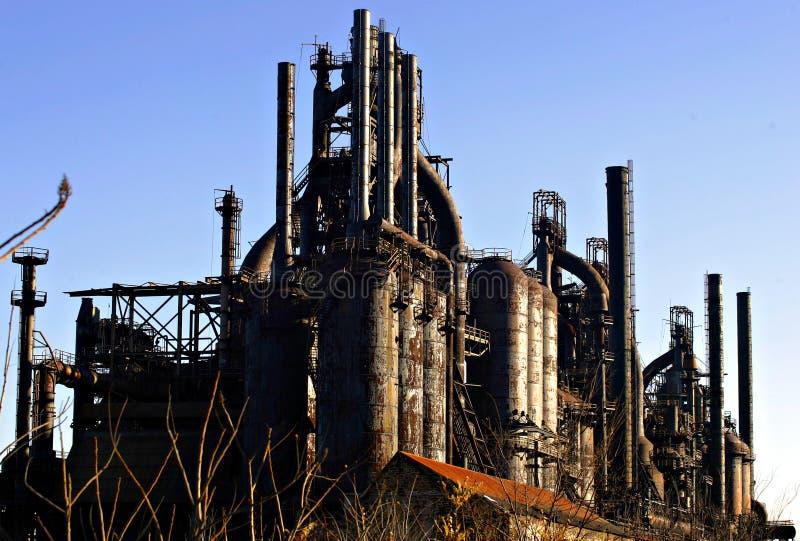 Industria siderurgica fotografie stock