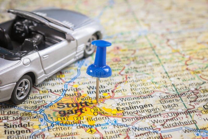 Industria-Stuttgart auto alemana fotos de archivo libres de regalías