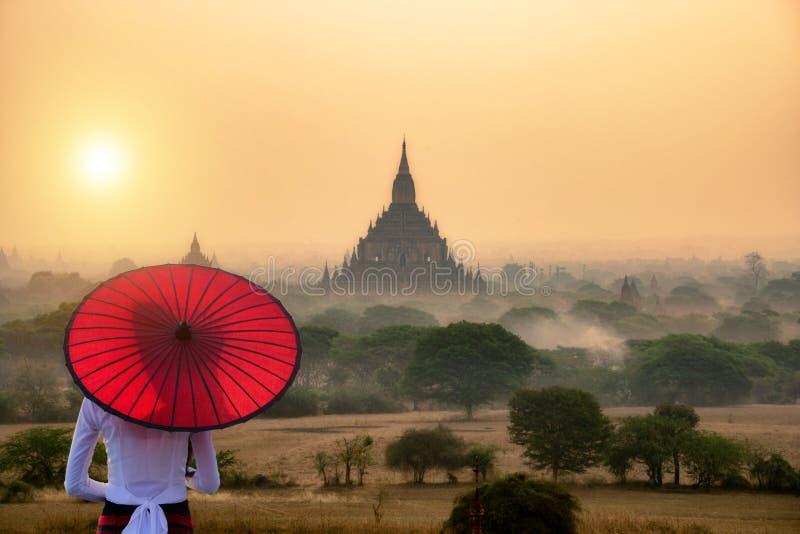 Industria turistica in Bagan Mandalay Myanmar fotografia stock