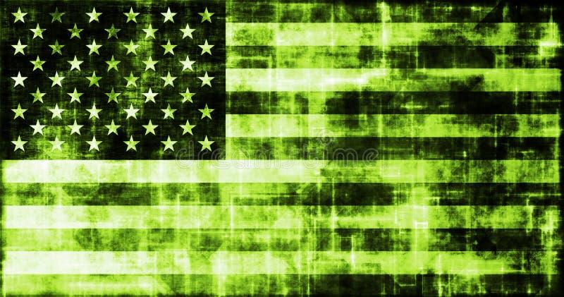 Industria verde del asunto de la tecnología de América stock de ilustración