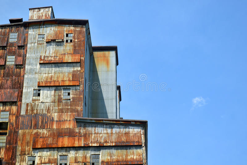 Industrial abandoned building royalty free stock image