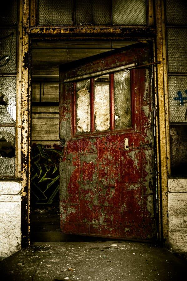 Download Industrial Abandoned Factory Doorway Stock Image - Image: 15136213