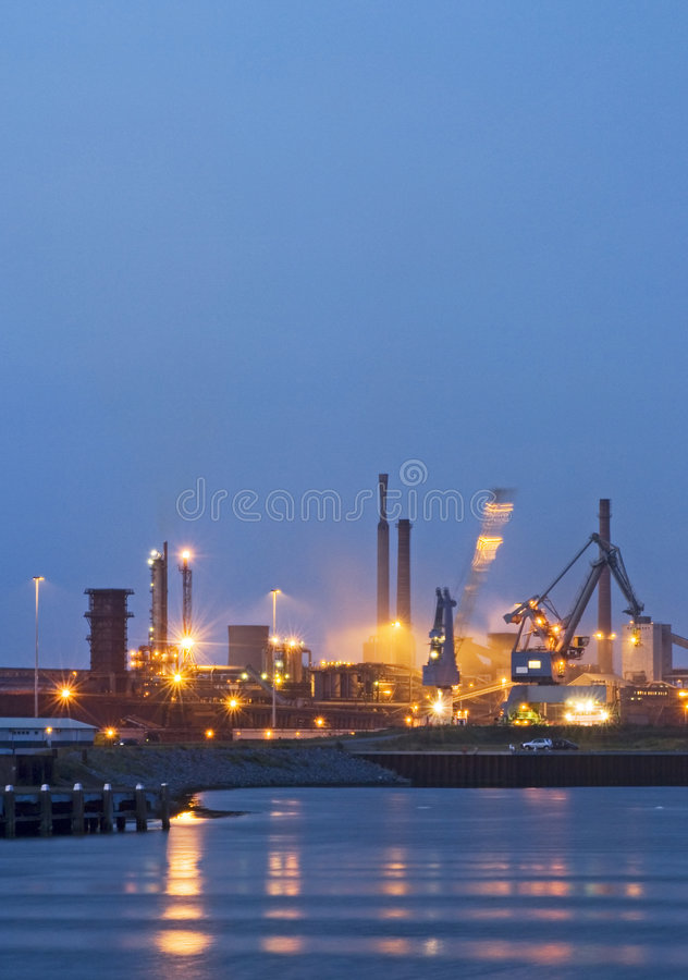 Industrial activity at night