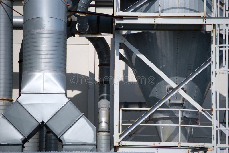 Industrial Cooling Duct : Industrial air conditioner duct work stock image