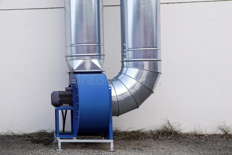 Industrial air conditioning systems . air turbine fan for ventilation royalty free stock photos